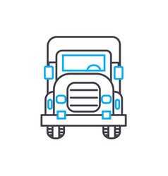 Big rig thin line stroke icon big rig vector