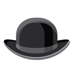 Black hat icon cartoon style vector