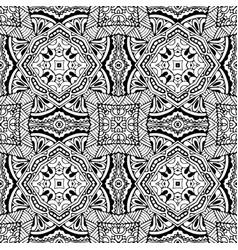 Black monochrome hand drawn pattern outline vector