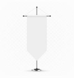 blank mockup pennants vector image