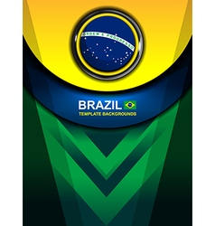 brazil flag color backgrounds design vector image