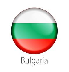 Bulgaria round button flag vector