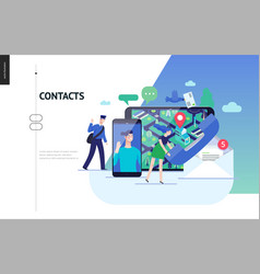 Business series - contacts web template vector