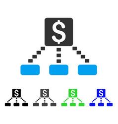 Cashout scheme flat icon vector