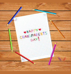 children colorful hand drawn lettering happy vector image