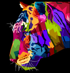 Close up head tiger vector