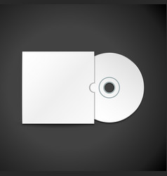compact disc cover mockup vector image