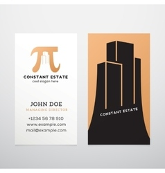 Constant Estate Abstract Business Card vector image vector image