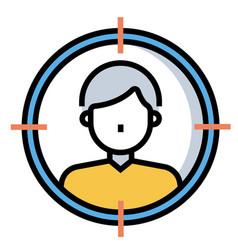 Consumer target linecolor vector