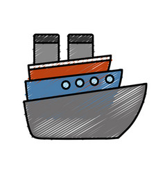 Cruise ship icon vector