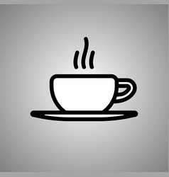 cup coffee icon cup coffe in eps 10 vector image