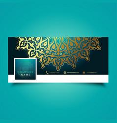 Decorative mandala social media timeline cover vector
