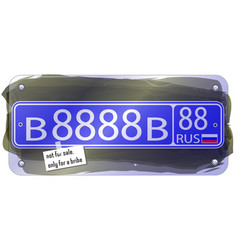 Fictional russian state police license plate vector