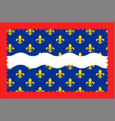 Flag of cher in centre-val de loire france vector