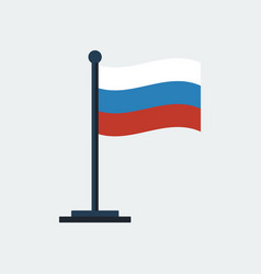 flag of russia flag stand vector image