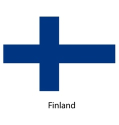 Flag of the country finland vector image