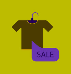 Flat icon of sale t-shirt vector