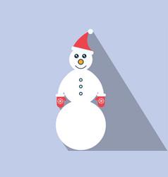 Flat snowman icon vector