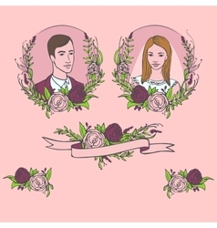 floral wedding invitation save date flower vector image