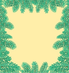 Frame of the branches of spruce textured vector image