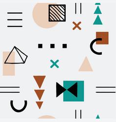 Geometric memphis style seamless pattern vector