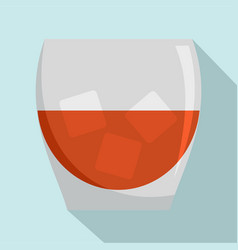 glass of rum icon flat style vector image