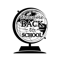 Globe Back to School vector image