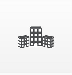 gray building icon isolated on background modern vector image