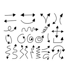 hand drawn arrow vector image
