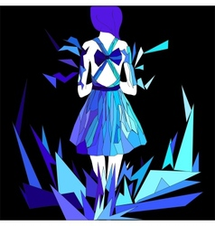 Hand-drawn elegant dress in vector image