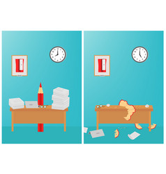 hard work day exhausted at work vector image