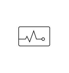 heartbeat line icon medical and pulse sign vector image