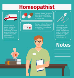 homeopathist and medical equipment icons vector image vector image