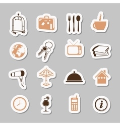 Hotel stickers vector