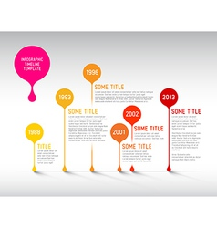 Infographic timeline report template with bubbles vector