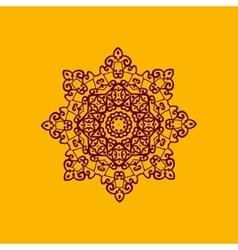 Islam henna ornament Geometric star element in vector