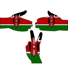 Kenya hand signal vector