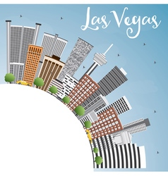 Las Vegas Skyline with Gray Buildings vector