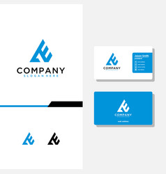 Letter ae logo design and business card template vector