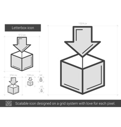 Letterbox line icon vector