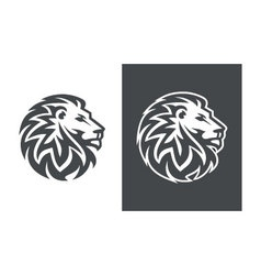 Lion head logo design abstract lion logo vector