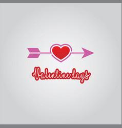 love arrow valentine days vector image