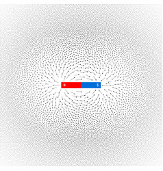 Magnetic field on white background vector