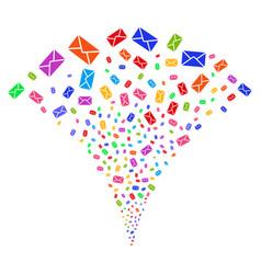 Mail envelope fountain stream vector