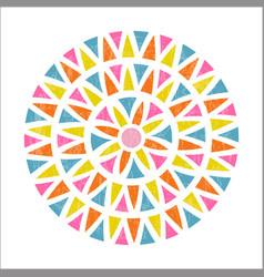 Mandala design in mexican ethnic style vector