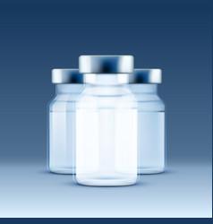 medical ampoule blue vector image
