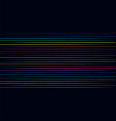 multicolored lines colorful horizontal vector image