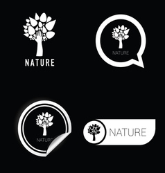 nature symbol black and white vector image