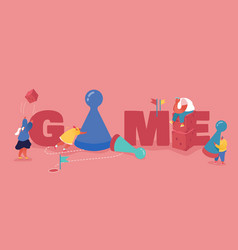 People characters playing board or tabletop games vector