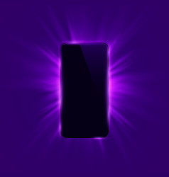 Phone cover color design modern purple background vector